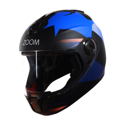 SBH-11 Zoom Trace Mat Black With Blue