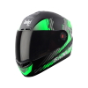 SBA-1 SANCHARI MAT BLACK WITH GREEN (FITTED WITH CLEAR VISOR EXTRA SMOKE VISOR FREE)