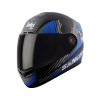 SBA-1 SANCHARI MAT BLACK WITH BLUE (FITTED WITH CLEAR VISOR EXTRA SMOKE VISOR FREE)