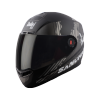SBA-1 SANCHARI MAT BLACK WITH GREY (FITTED WITH CLEAR VISOR EXTRA SMOKE VISOR FREE)
