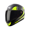 SBA-1 SANCHARI MAT BLACK WITH NEON (FITTED WITH CLEAR VISOR EXTRA SMOKE VISOR FREE)