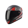 SBA-1 SANCHARI MAT BLACK WITH RED (FITTED WITH CLEAR VISOR EXTRA SMOKE VISOR FREE)