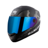SBA-1 SANCHARI MAT BLACK WITH GREY (FITTED WITH CLEAR VISOR EXTRA CHROME BLUE VISOR FREE)
