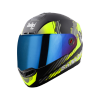 SBA-1 SANCHARI MAT BLACK WITH NEON (FITTED WITH CLEAR VISOR EXTRA CHROME BLUE VISOR FREE)
