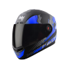 SBA-1 THALAIVA MAT BLACK WITH BLUE (FITTED WITH CLEAR VISOR EXTRA SMOKE VISOR FREE)