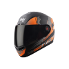 SBA-1 THALAIVA MAT BLACK WITH ORANGE (FITTED WITH CLEAR VISOR EXTRA SMOKE VISOR FREE)