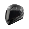 SBA-1 THALAIVA MAT BLACK WITH GREY (FITTED WITH CLEAR VISOR EXTRA SMOKE VISOR FREE)