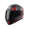 SBA-1 THALAIVA MAT BLACK WITH RED (FITTED WITH CLEAR VISOR EXTRA SMOKE VISOR FREE)