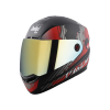 SBA-1 THALAIVA MAT BLACK WITH RED (FITTED WITH CLEAR VISOR EXTRA CHROME GOLD VISOR FREE)