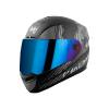 SBA-1 THALAIVA MAT BLACK WITH GREY (FITTED WITH CLEAR VISOR EXTRA CHROME BLUE VISOR FREE)