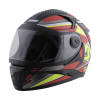 SBH-17 ROBOT RIDER GLOSSY BLACK WITH RED