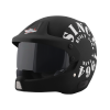 SB-51 RALLY TANK MAT BLACK WITH WHITE (FITTED WITH CLEAR VISOR EXTRA SMOKE VISOR FREE)