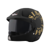 SB-51 RALLY TANK MAT BLACK WITH GOLD (FITTED WITH CLEAR VISOR EXTRA SMOKE VISOR FREE)