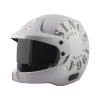 SB-51 RALLY TANK MAT SILVER WITH GREY (FITTED WITH CLEAR VISOR EXTRA SMOKE VISOR FREE)