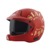 SB-51 RALLY TANK MAT MAROON WITH GOLD (FITTED WITH CLEAR VISOR EXTRA SMOKE VISOR FREE)