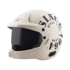 SB-51 RALLY TANK MAT OFF-WHITE WITH BLACK (FITTED WITH CLEAR VISOR EXTRA SMOKE VISOR FREE)