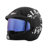 SB-51 RALLY TANK MAT BLACK WITH WHITE (FITTED WITH CLEAR VISOR EXTRA BLUE CHROME VISOR FREE)