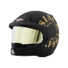 SB-51 RALLY TANK MAT BLACK WITH GOLD (FITTED WITH CLEAR VISOR EXTRA GOLD CHROME VISOR FREE)