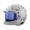 SB-51 RALLY TANK MAT SILVER WITH GREY (FITTED WITH CLEAR VISOR EXTRA BLUE CHROME VISOR FREE)