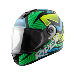 SBH-11 ZOOM RIDER MAT GREEN WITH SKY BLUE