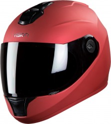 Steelbird HI-GN Men Vision Painted Glossy Sports Red ( Fitted With Clear Visor Extra Smoke Visor Free)