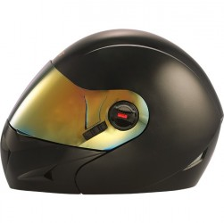 A-1 ARES GLOSY MAT BLACK 600MM GOLDEN VISOR