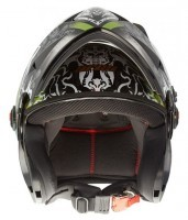 A-1 ARES DEVIL FACE MAT BLACK 600MM SL.VISOR